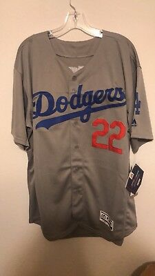e884f85ea ... coupon code for clayton kershaw majestic flex base los angeles dodgers  jersey gray 22 mens xl