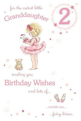 GRANDDAUGHTER 2nd BIRTHDAY CARD AGE 2 QUALITY WITH BEAUTIFUL VERSE