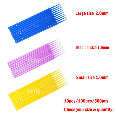 Dental Disposable Micro Brush Large / Medium / Small Tips - Micro Applicators
