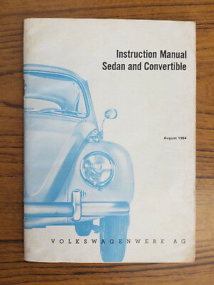 1964 VW Beetle Instruction Manual - Sedan & Convertible  August 1964