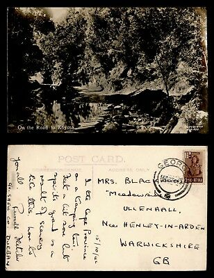 Dr Who 1942 South Africa To Gb Road To Knysna Postcard C38033