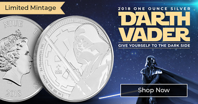 2018 Niue 1 oz .999 Fine Silver Darth Vader Coin - Star Wars Bullion Series - BU
