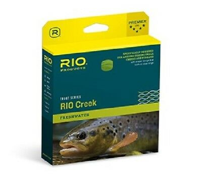 New Rio Creek Special Wf-4-F #4 Weight Fwd Floating Fly Line Green/Yellow Color