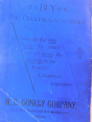 Worlds Columbian Exposition 1893 Official Catalog of Exhibits Woman's Building