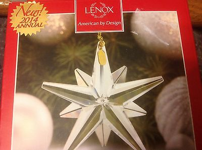Lenox 2014 optic glass star ornament nib