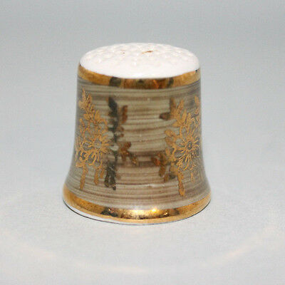 Vintage Ceramic Thimble  Gold Trim Collectable Made in Western Germany