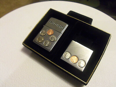 Zippo ''small Change'' Lighter & Money Clip - New W/ Display Box...