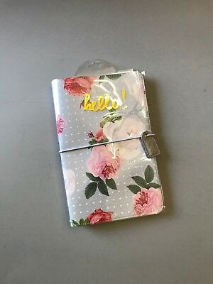Webster's Pages Travelers Notebook Planner, grey floral planner, TN planner, NIP