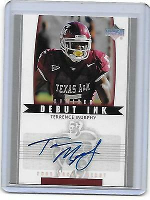 2005 UD Rookie Debut Terrance Murphy Limited RC Autograph Card TEXAS A&M AGGIES