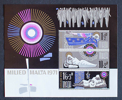 Malta 1971 Christmas Minisheet Sg,ms463 Mnh