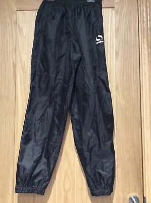 Boys Black Sondico Waterproof Trousers Age 13 years
