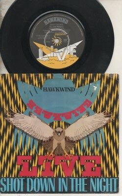 "HAWKWIND    MOTORHEAD   Rare 1980 UK Only 7"" OOP Live P/C Single ""Shot Down"""