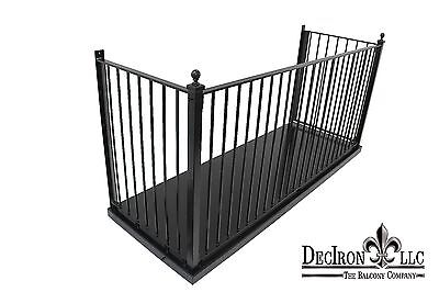 "Wrought Iron Balcony with 102 X 36""deep platform Powder-Coated."