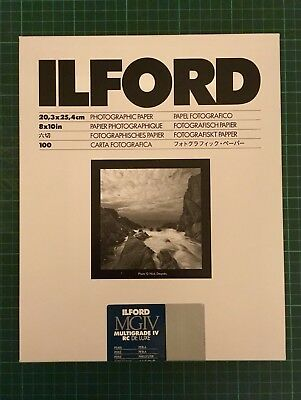 Ilford Multigrade IV RC Deluxe Pearl 8x10 Inch 100 Sheets