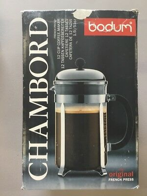Bodum Chambord French Press Coffee Maker 34 Ounce 1 Liter 8 Cup