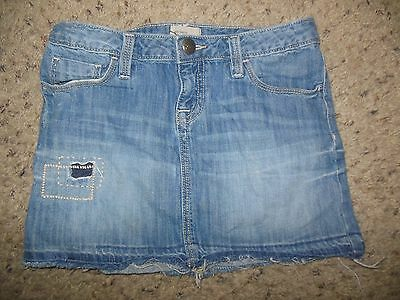 Gap Kids Girl Medium Wash denim Skirt Size 10 Adjustable Waist