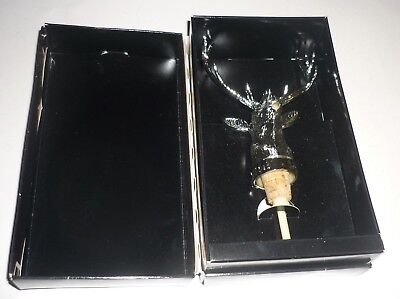 Glenfiddich Pure Malt Scotch Whiskey Stag's Head Pourer Bottle Stopper w/Box New