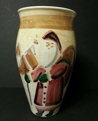 Marco e Cristina Christmas Santa Claus Vase Hand Painted Made in Italy