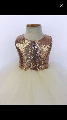 Wedding Sequins Flower Girl Dress Birthday Girl Dresses Summer Easter Dresses