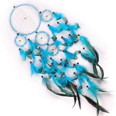 Handmade Dream Catcher Circular With Feather Wall Hanging Decor Ornament