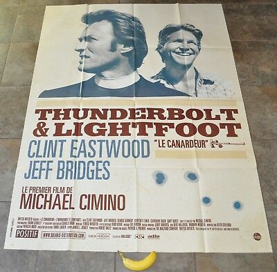 THUNDERBOLT AND LIGHTFOOT Movie Poster - MASSIVE new - Clint Eastwood Cimino