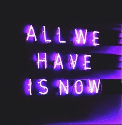 New All We Have Is Now Purple Neon Sign Decor Artwork Light Lamp Display 14""