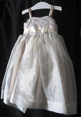 Handmade Beige Formal Girls Dress Size 4