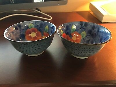 Chinese Rice Bowls, 2 total. Very nice bowls; no sign of damage or cracks.