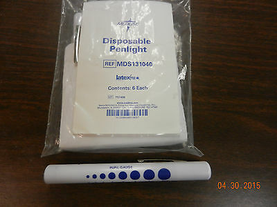 Disposable Pen Lights with Pupil Gauge New - 6 pack