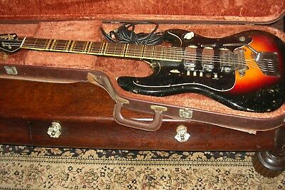 Vintage Hofner Galaxy 1960's Electric Guitar With Case