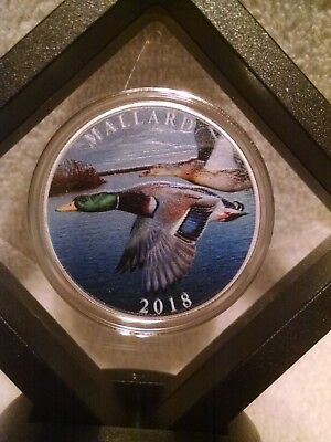 National Rifle Association 1oz. .999 Pure Silver Colorized Mallard Duck Round