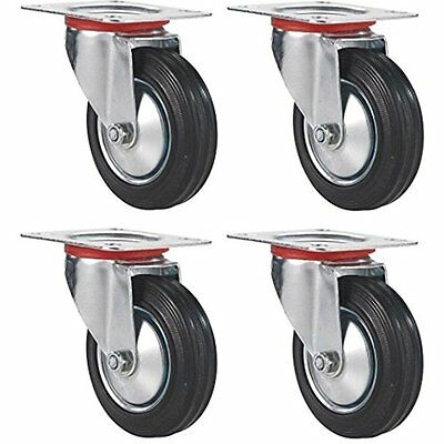 """Online Best Service 3"""" Swivel Caster Wheels Rubber Base With Top Plate & Bearing"""