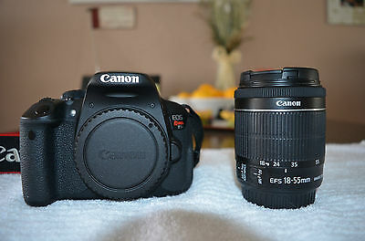 Canon EOS Rebel T5i / 700D 18.0 MP SLR With 18-55mm IS II (2 LENSES) + Tripod