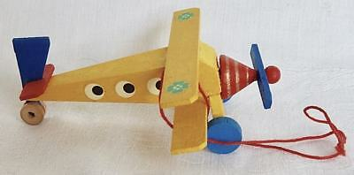 Steinbach Biiplane Wooden Christmas Tree Ornament Germany 1970s