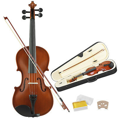 Kenwell Full Size 4/4 Violin Handed Natural Acoustic Fiddle Bow Gs Tangerine