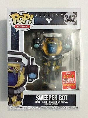 Funko Pop! Games: 2018 Convention Exclusive Destiny Sweeper Bot Figure #342 NEW