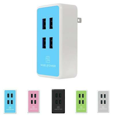 Wall travel charger 20w 4A 4 port fast USB Smart Charging for iPhone Android Pad