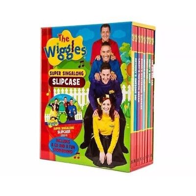 The Wiggles Super Sing A Long Slipcase With 8 Books & CD