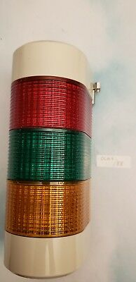 Patlite WME-FBEN Signal Tower; 3-color Red,Green,Yellow Wall mount 24V AC/DC