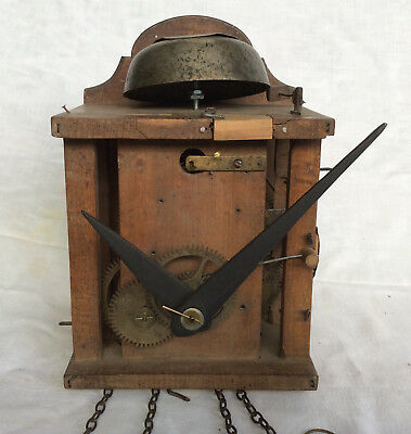 Old Black Forest ? Shield Clock Movement with chains