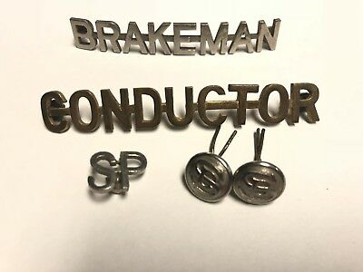 vintage  brakeman conductor Cap Badge - Southern Pacific Shreve & SPCO, Railroad
