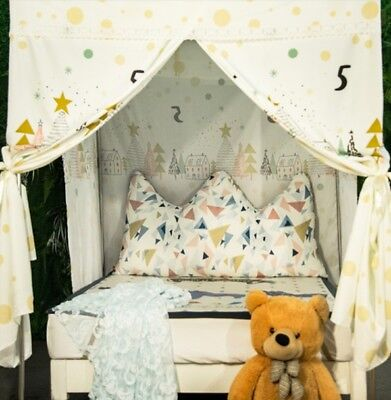 Single Cartoon Floor Type Dust Prevention Bed Canopy Mosquito Net Bed Curtain#