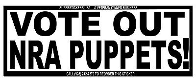 Nra, Vote Out Puppets One Big Bumper Sticker 11X2.7-On Tough Weatherproof Vinyl