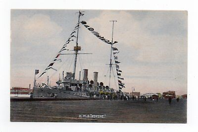 """Shipping - H.m.s. """"psyche"""" C 1910"""