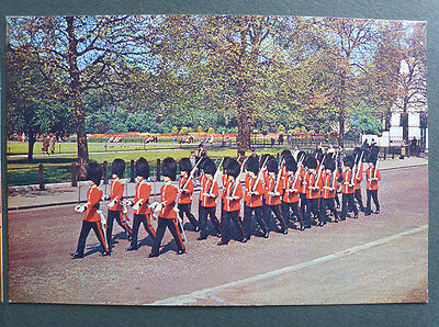 Vintage British Royalty Postcard - Guards Marching To Barracks