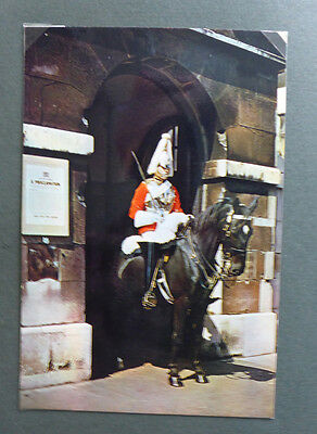 Vintage British Royalty Postcard - Mounted Sentry At Whitehall