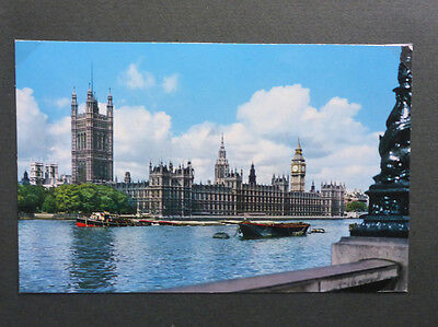 Vintage British Royalty Postcard - Houses Of Parliament From The River