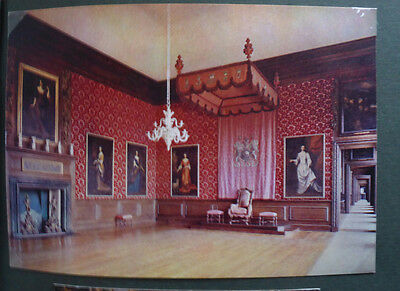 Vintage British Postcard - Kings First Chamber, Hampton Court Palace