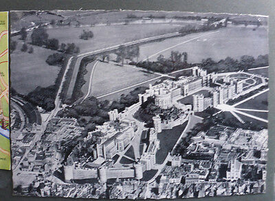 Vintage British Postcard - Windsor Castle From The Air