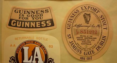 OLD AUSTRALIAN BEER LABEL, SA BREWING Co WEST END GUINNESS STOUT 185ml